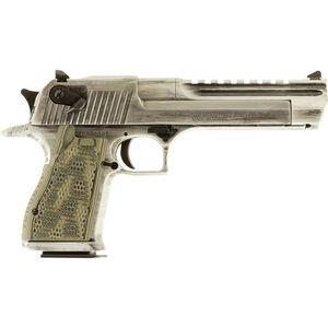 "Magnum Research Apocalyptic Desert Eagle Mark XIX Semi Auto Pistol .44 Remington Magnum 6"" Barrel 8 Rounds G10 Synthetic Grips Cerakote White Matte Distressed Finish"