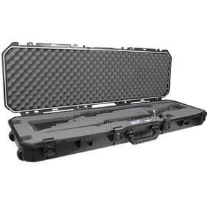"Plano All Weather 52"" Double Rifle/Shotgun Hard Case Plastic Black"