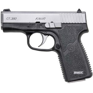 "Kahr Arms CT380 Semi Auto Pistol .380 ACP 3"" Barrel 7 Rounds Matte Stainless Steel Slide Textured Polymer Frame Matte Black Finish"