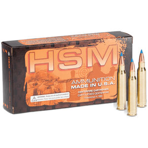 HSM .220 Swift Ammunition 20 Rounds BlitzKing 55 Grain