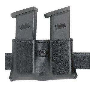 Safariland Model 079 Concealment Double Magazine Holder Snap-on Belt Mount Size Group 5 Ambidextrous Plain Black 079-53-6