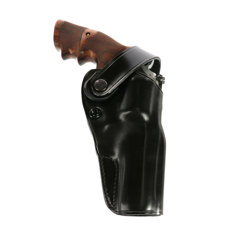 """Galco DOA Belt Holster for S&W K/L Frame w/6"""" Barrel Right Hand Leather Black"""