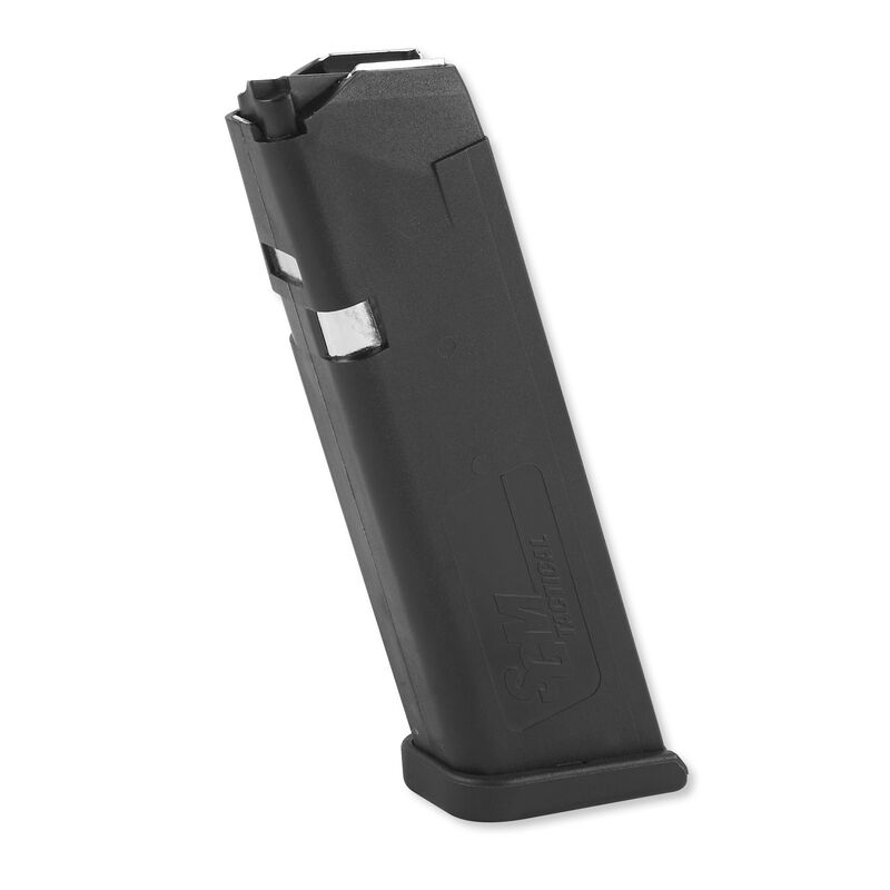 SGM Tactical Magazine For GLOCK 17 9mm Luger 17 Rounds Polymer Black SGMTMG17  FREE Speed Loader Included