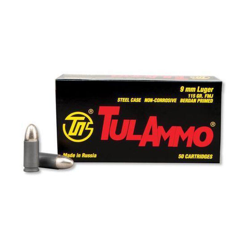 TulAmmo 9mm Luger Ammunition 50 Rounds FMJ 115 Grains TA919150