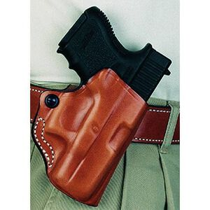 DeSantis 019 GLOCK 19, 23, 32, 36 Mini Scabbard Belt Holster Right Hand Leather Black