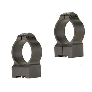 Warne Rings Tikka Rings Medium Height 30mm Diameter Matte Finish Black 14TM