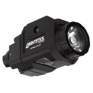 NightStick TCM-550XLS Compact Tactical Weapon Mounted Light 550 Lumens CREE LED White Light CR123 Batteries Matte Black