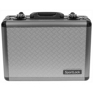 Sportlock Alumalock Double Handgun Case Small Aluminum Interlocking Foam Crate Foam Gray 00400