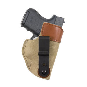 DeSantis 106 Sof-Tuck IWB Holster For GLOCK 26/27 Walther PPS/PK380 Right Hand Leather Tan 106NAE1Z0