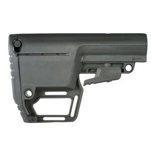 Mission First Tactical Battlelink Utility Stock Stock Black M4 Collapsible Stock 6 Position Mil Spec BUSMIL