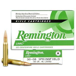 Remington UMC .30-06 SPRG 150 Grain FMJ 20 Round Box