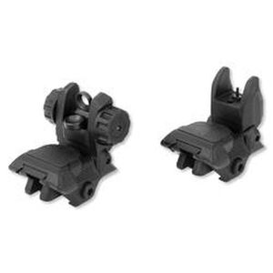 TuffZone AR-15 Flip Up Sight Set Same Plane Polymer Black TZ-MSPFR