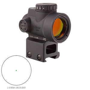 Trijicon 1x25 MRO 2.0 MOA Adjustable Green Dot; AC32068