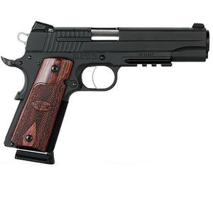 "SIG Sauer 1911 Rail Semi Automatic Pistol .45 ACP 5"" Barrel 8-1 Round Rosewood Grips Nitron Finish 1911R-45-BSS-CA"