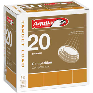 "Aguila Competition Target 20 Gauge Ammunition 25 Rounds 2-3/4"" Shell #8 Lead 7/8oz 1275fps"