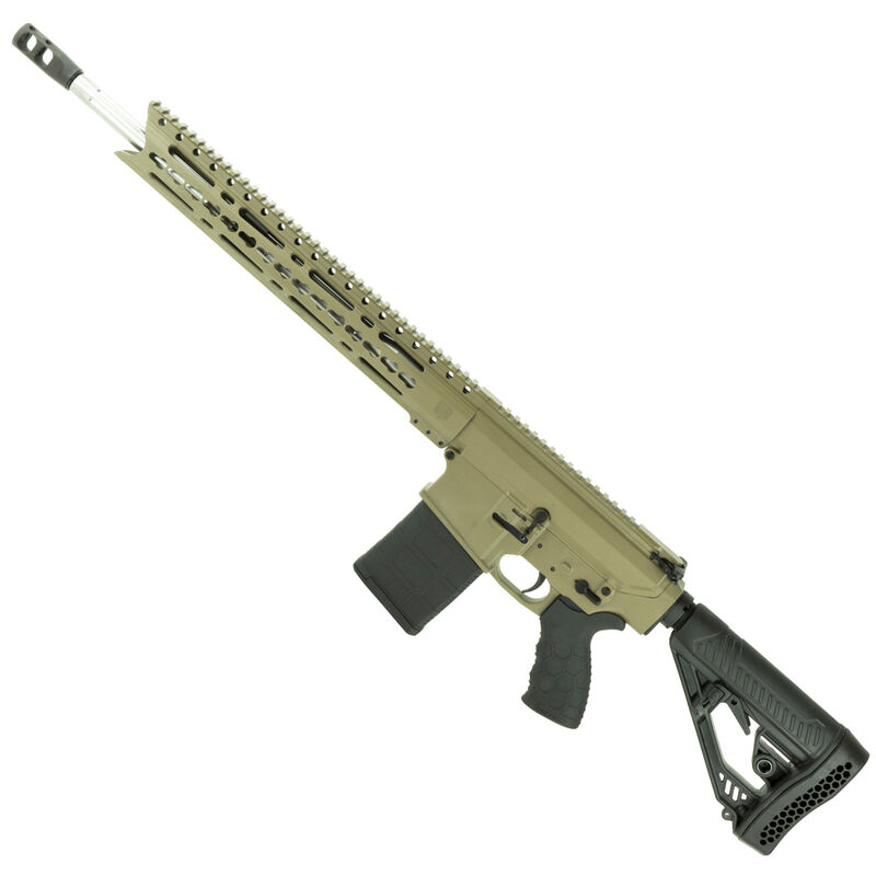 "Diamondback DB10ELB Semi Auto Rifle .308 Winchester 18"" Stainless Steel Fluted Barrel 20 Rounds 15"" KeyMod Hand Guard Collapsible Stock Matte FDE"