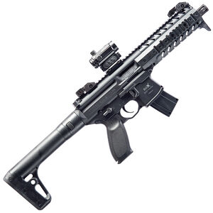 SIG Sauer MPX ASP CO2 Semi Auto Air Rifle .177 Caliber 30 Rounds 750 fps Metal Housing Aluminum Handguard Synthetic Stock Black AIR-MPX-MRD-177-88G-30-BLK
