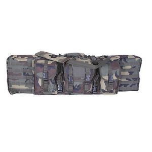 "Voodoo Tactical Enhanced Padded Rifle Weapon Case Single/Double Gun 42"" MOLLE Soft Case Woodland Camouflage Finish"