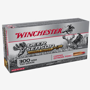 Winchester Deer Season XP Copper Impact .300 WSM Ammunition 20 Rounds 150 Grain Lead Free Solid Copper Polymer Tip 3200fps