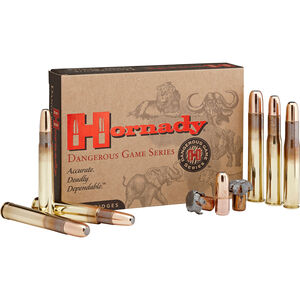 Hornady Dangerous Game .458 Lott Ammunition 20 Rounds 500 Grain DGX Projectile 2300 fps