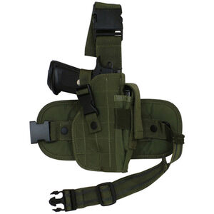 Fox Outdoor Mission Ready Drop Leg Holster Medium To Large Autos Right Hand Nylon Olive Drab Green 58-080