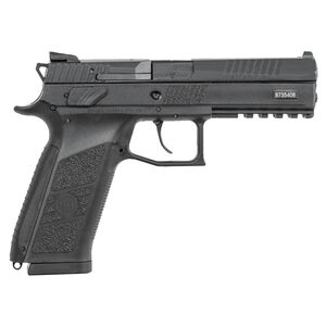 "CZ P-09 Full Size Semi Auto Pistol 9mm Luger 4.54"" Barrel 10 Rounds Magazine Fixed Three Dot Sights Omega DA/SA Trigger Polymer Frame Matte Black Finish"