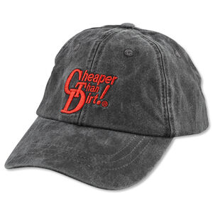 Cheaper Than Dirt! Ball Cap Washed Denim Black
