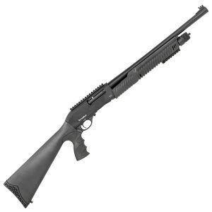 "Radikal P-3 Tactical 12 Gauge Pump Action Shotgun 20"" Barrel 3"" Chamber 4 Rounds FO Front Sight Synthetic PG Stock Black Finish"