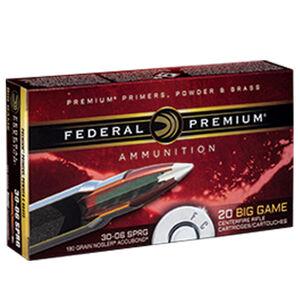 Federal Premium Nosler .30-06 Springfield Ammunition 20 Rounds 150 Grain Nosler Accubond 2910fps