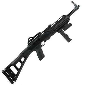 "Hi-Point Carbine Semi Auto Rifle .45 ACP 17.5"" Barrel 9 Rounds Polymer Stock Black Finish With Forward Grip and Flashlight 4595TSFGFL"