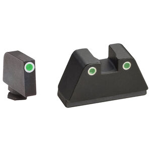 Ameriglo 2XL Tall 3-Dot Sight Set for GLOCK Green Tritium with White Outline