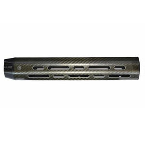 "Lancer LCH7 Rifle Length DPMS LR-308 14.6"" Free Float Hand Guard M-LOK Compatible No Top Rail Carbon Fiber Black"