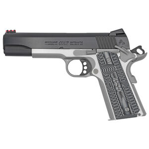 "Colt Competition 1911 Series 70 Government Model Semi Auto Pistol .45 ACP 5"" Barrel 8 Rounds Fiber Front Sight Novak Rear Sight G10 Grips Two-Tone Finish"