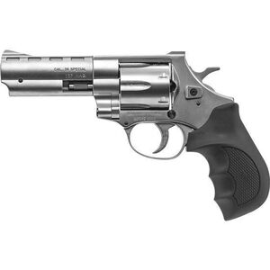 """EAA Windicator Revolver .357 Magnum 4"""" Barrel 6 Rounds Steel Frame Rubber Grips Fixed Sights Nickel Finish 770128"""