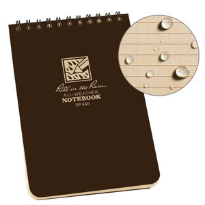 """Rite in the Rain All-Weather Notebook 4"""" x 6"""" Waterproof Polydura Brown"""