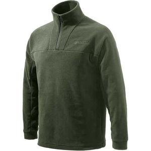 Beretta Fleece Jacket Pull Over 1/4 Zip Trident Logo Black Medium
