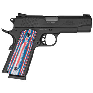 "Taurus Commander 1911 .45 ACP Semi Auto Pistol 4.25"" Barrel 8 Rounds Novak Sights VZ Stars/Stripes Grips Matte Black Finish"