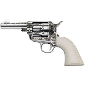 """E.M.F. Great Western II Deluxe Engraved Sheriff 1873 Revolver 357 Mag 3.5"""" Barrel 6 Rounds Laser Engraved Ivory Grips Stainless Steel"""