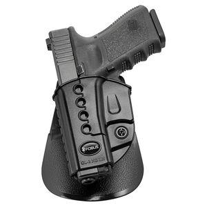 Fobus Evolution Paddle Holster for GLOCK 17,19 and 34 Left Hand Polymer Black