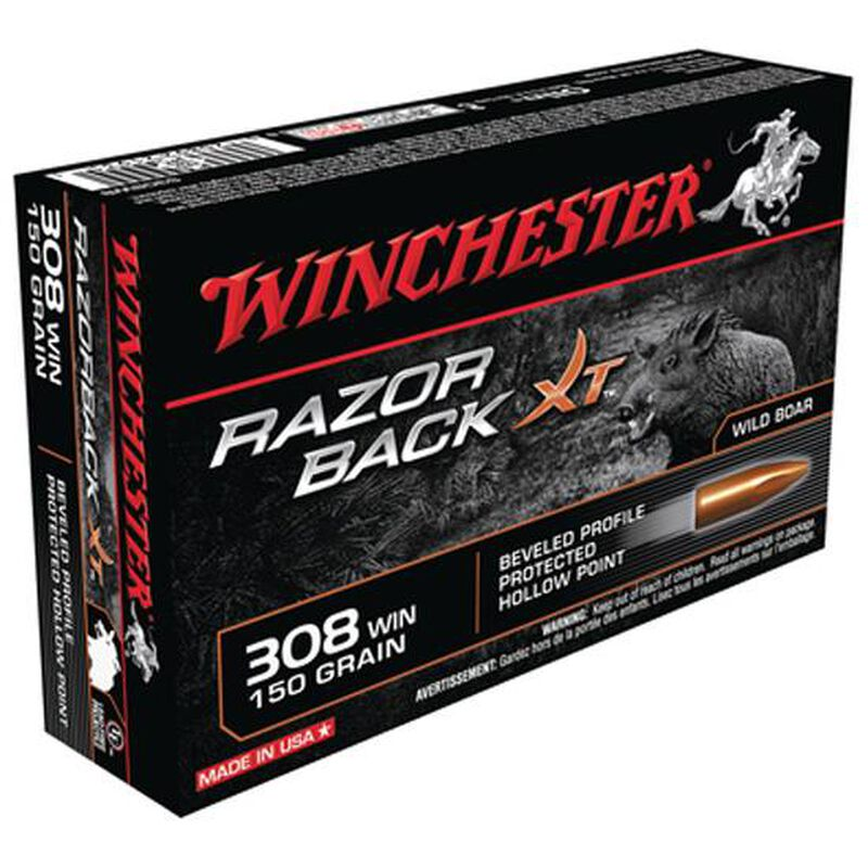 Winchester Razor Boar .308 Winchester Ammunition 150 Lead Free Hollow Point 2810 fps