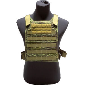 """Grey Ghost Gear Minimalist Plate Carrier 10""""x12"""" Plate Compatible MOLLE/PALS Webbing MultiCam Tropic"""