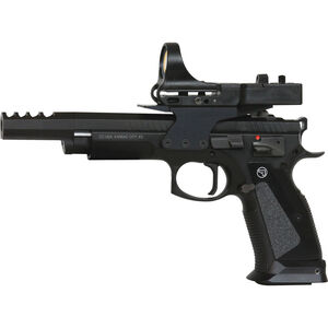 """CZ-USA CZ75 TS Czechmate 9mm Luger Semi-Auto Competition Handgun 5.27"""" Barrel 26 Rounds C-More Red Dot Sight Steel Frame Black Finish"""