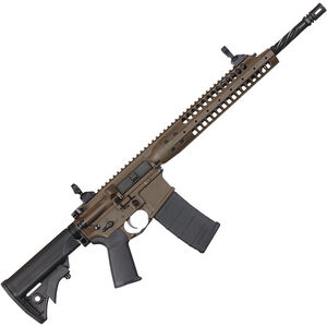 "LWRC IC-A5 Semi Auto Rifle 5.56 NATO 16.1"" Barrel 30 Rounds Polymer Stock Patriot Brown Finish GICA5R5PBC16"