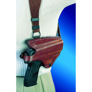 """Bianchi Model X16 Agent Taurus 85 2"""", S&W J Frame 2"""", Charter Arms Undercover Unlined Shoulder Holster System Right Hand Leather Tan 17260"""