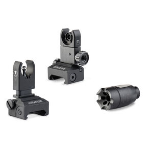 Ultradyne AR-15 ATHENA and C4 Dynamount Folding Sight Combo .223/5.56 Caliber 1/2x28 Threads Nitride Black