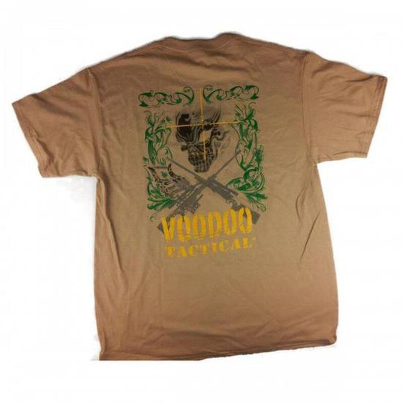 Voodoo Tactical T Shirt Skull Preshrunk Cotton Large Sand