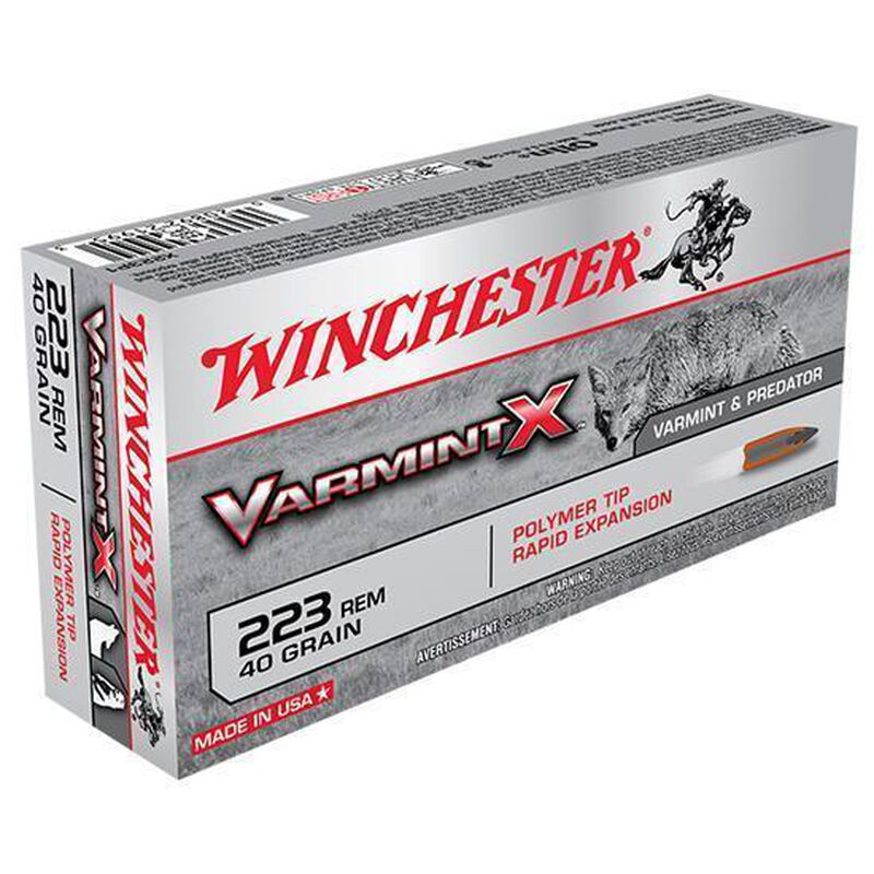 Winchester Varmint X .22-250 Remington Ammunition 20 Rounds, PT, 55 Grains