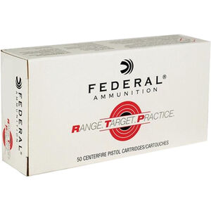 Federal Range Target Practice .380 ACP Ammunition 50 Rounds 95 Grain Full Metal Jacket 980fps