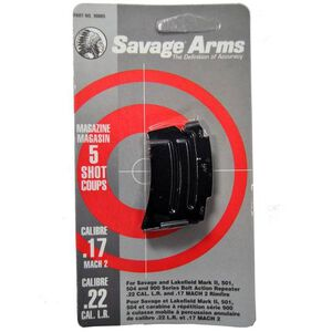 Savage MKII 5 Round Magazine .22LR/.17HM2 Steel Blued