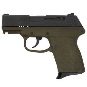 "Kel-Tec PF-9 Semi Auto Handgun 9mm 3.1"" Barrel 7 Rounds Green Polymer Frame Parkerized Slide"